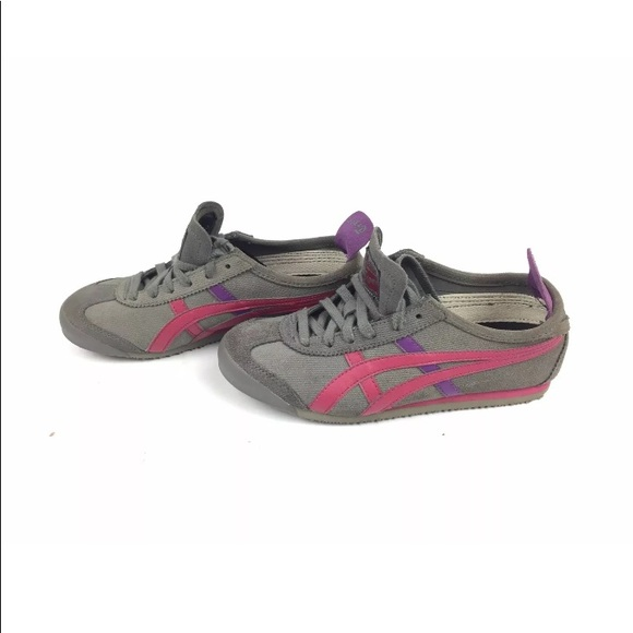 sale retailer 023cb e2c21 Asics Onitsuka Tiger Womens Gray Suede Sneakers